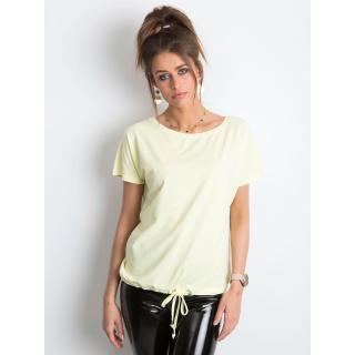 Women´s cotton t-shirt, light yellow dámské Neurčeno XS