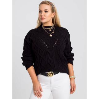 Women´s plus size black sweater dámské Neurčeno one size L/XL