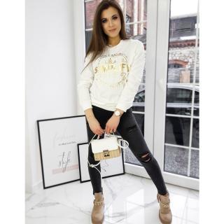 Women´s sweatshirt SIMPLIFY ecru BY0649 dámské Neurčeno One size