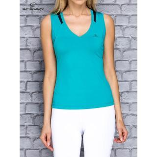 Women´s turquoise sports top with a black insert dámské Neurčeno XS