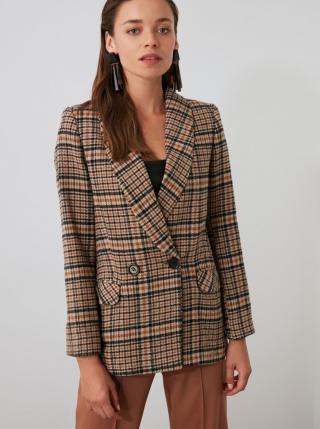 Women's jacket Trendyol Plaid dámské hnědá XS