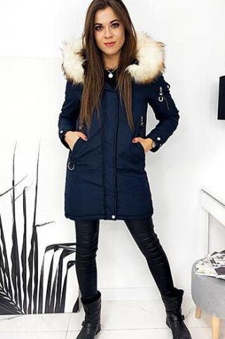 Womens 2in1 DOUBLE parka jacket, navy blue TY1589 dámské Neurčeno M
