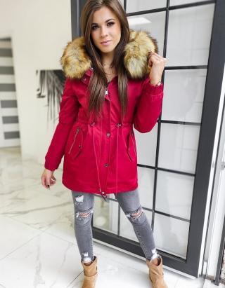 Womens 3in1 parka jacket VELLA burgundy TY1456 dámské Neurčeno L