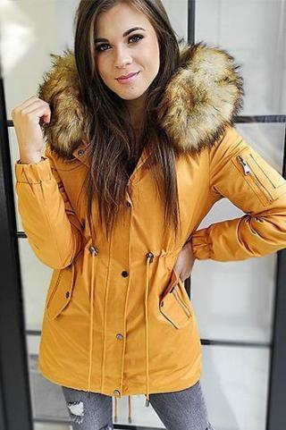 Womens 3in1 parka jacket VELLA, camel TY1455 dámské Neurčeno M