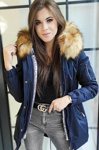 Womens 3in1 parka jacket VELLA navy blue TY1453 dámské Neurčeno M