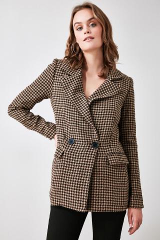 Womens blazer Trendyol Patterned dámské Brown 34