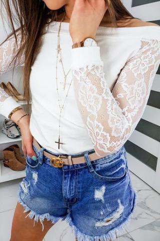 Womens blouse FILLO ecru BY0311 dámské Neurčeno One size