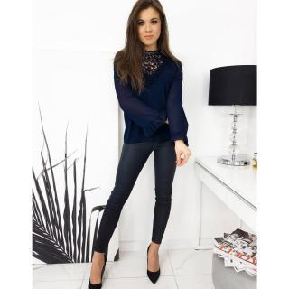 Womens blouse MELLA navy blue RY0567 dámské Neurčeno One size