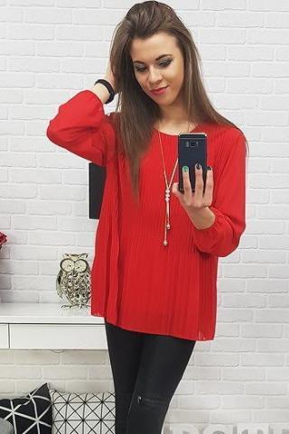Womens blouse VIANA red RY0520 dámské Neurčeno One size