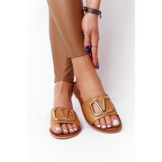 Womens Classic Slippers Camel Vicky dámské Other 38