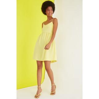 Womens dress Trendyol Basic dámské Yellow 40