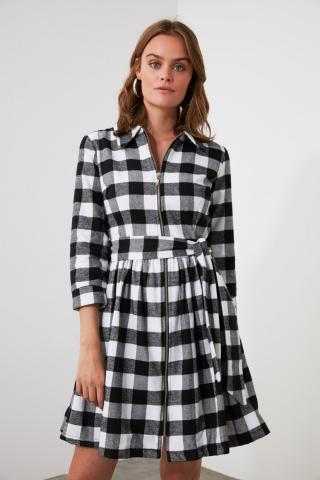 Womens dress  Trendyol Checked dámské Black 42