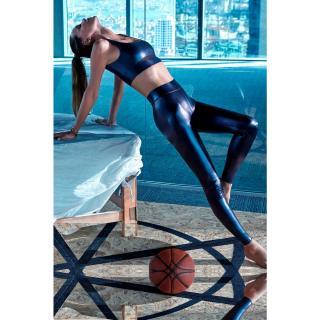 Womens Gray Ebru Salli Loves Koton Sport Leggings dámské M