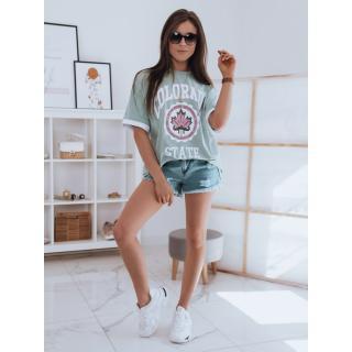Womens oversize T-shirt COLORADO mint Dstreet RY1718 dámské Neurčeno S