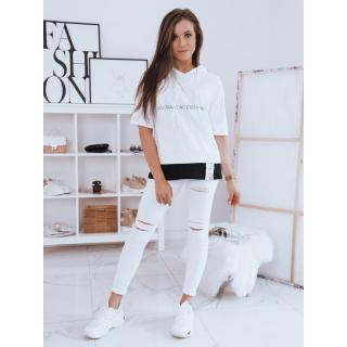 Womens oversize T-shirt EVERYWHERE white Dstreet RY1722 dámské Neurčeno M