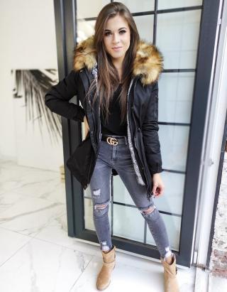 Womens parka jacket 3in1 VELLA black TY1452 dámské Neurčeno L