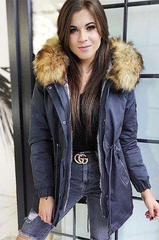 Womens parka jacket 3in1 VELLA graphite TY1454 dámské Neurčeno XL