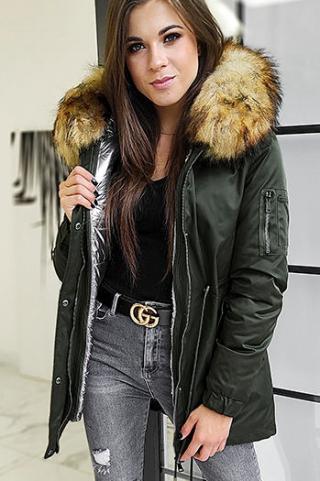 Womens parka jacket 3in1 VELLA khaki TY1457 dámské Neurčeno L