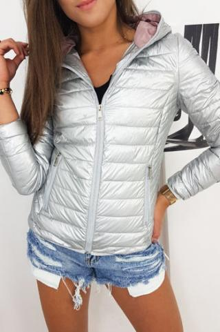 Womens quilted DEISELL jacket, silver TY1271 dámské Neurčeno L