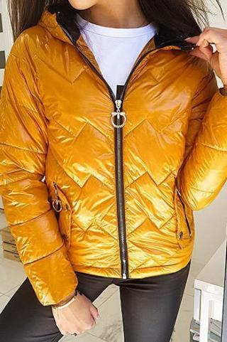 Womens quilted jacket FLENCE yellow TY1407 dámské Neurčeno S