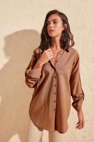 Womens shirt Trendyol Plain dámské TİLE 34