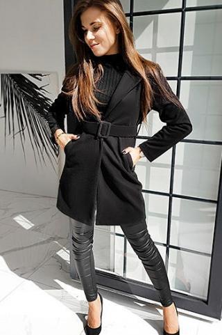 Womens single-breasted coat DARIO black NY0369 dámské Neurčeno M