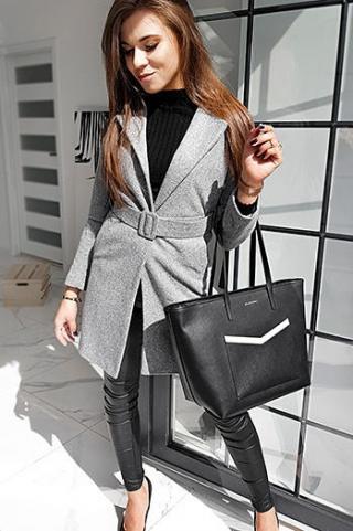 Womens single-breasted coat DARIO light gray NY0367 dámské Neurčeno M