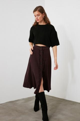 Womens skirt Trendyol Plaid dámské Plum 34