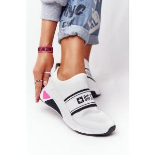 Womens Slip-On Sneakers Memory Foam Big Star HH274538 White dámské Neurčeno 38