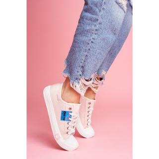 Womens Sneakers Big Star Perforated Pink FF274033 dámské Neurčeno 37