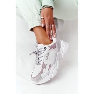 Womens Sneakers Memory Foam Big Star HH274255 White-Purple dámské Neurčeno 37