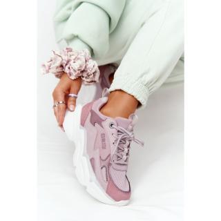 Womens Sneakers Memory Foam Big Star HH274258 Purple dámské Neurčeno 38