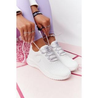 Womens Sneakers Memory Foam Big Star HH274296 White dámské Other 38