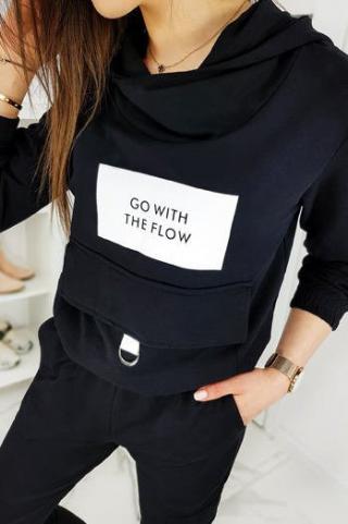 Womens sweat suit FLOW black AY0209 dámské Neurčeno One size