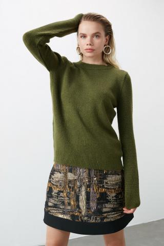 Womens sweater Trendyol Basic dámské Khaki S