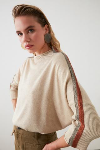 Womens sweater Trendyol Striped dámské Stone S