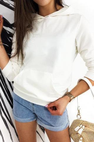 Womens sweatshirt BASIC EVER ecru BY0386 dámské Neurčeno One size