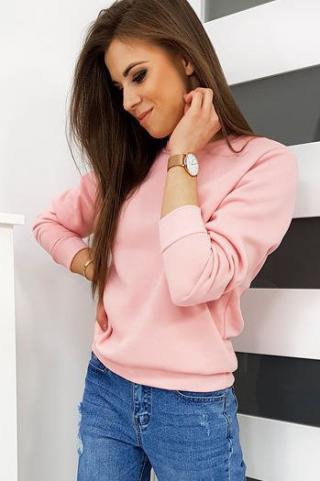 Womens sweatshirt FASHION II baby pink BY0293 dámské Neurčeno S