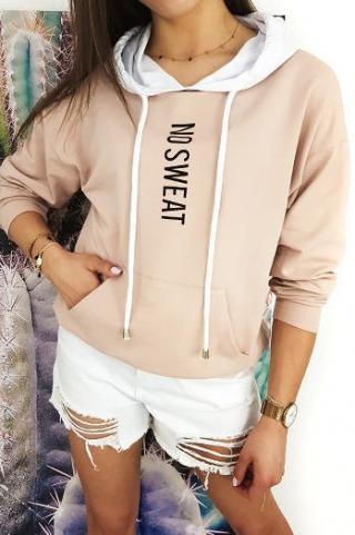 Womens sweatshirt NO SWEAT pink BY0379 dámské Neurčeno One size