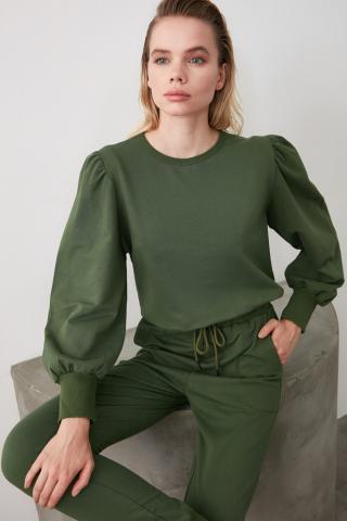 Womens sweatshirt Trendyol Basic dámské Khaki XS
