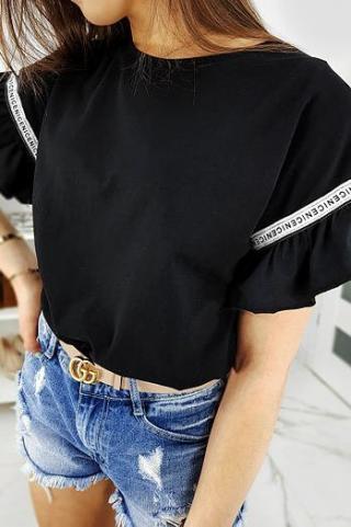 Womens T-shirt NICE black RY1261 dámské Neurčeno One size