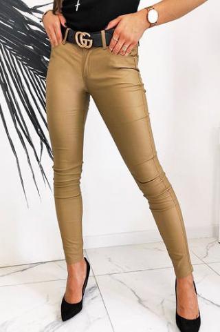 Womens waxed Skinny Fit STREYSON pants, camel UY0596 dámské Neurčeno 38