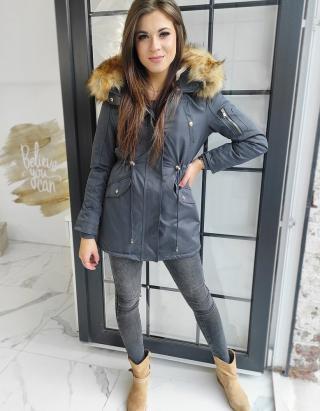 Womens winter parka jacket, gray VISTEO, gray TY1460 dámské Neurčeno L