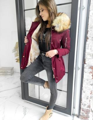 Womens winter parka jacket VISTEO claret TY1463 dámské Neurčeno XL