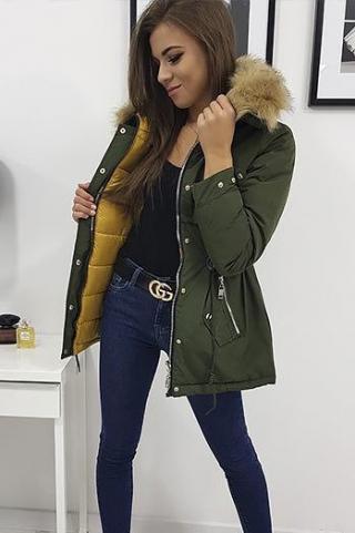 Womens winter reversible parka jacket ROMA olive TY0932 dámské Neurčeno S