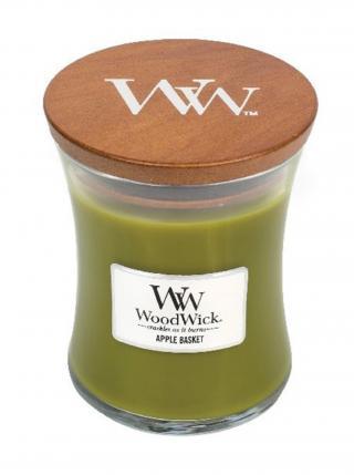 WoodWick vonná svíčka Apple Basket střední váza zelená