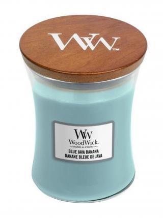 WoodWick vonná svíčka Blue Java Banana střední váza modrá