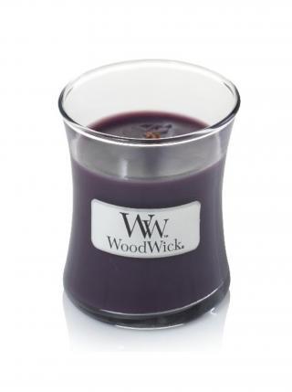 WoodWick vonná svíčka Fig malá váza fialová