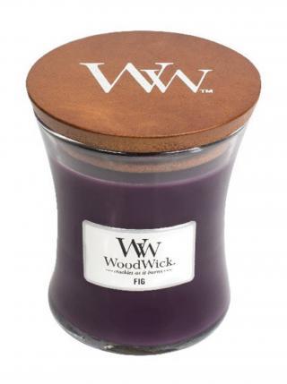 WoodWick vonná svíčka Fig střední váza fialová