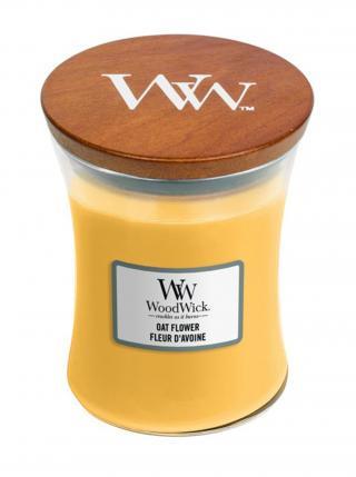 WoodWick vonná svíčka Oat Flower střední váza žlutá